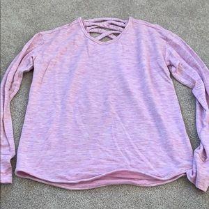 Athlete Girl Cross back top pink soft